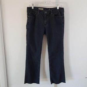 ADRIANO GOLDSCHMIED jeans ankle frayed hem 29